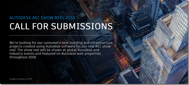 AEC 2018 Show Reel Call for Submissions